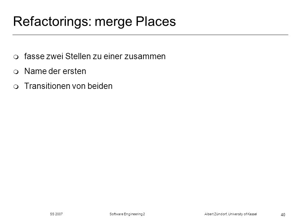 Refactorings: merge Places