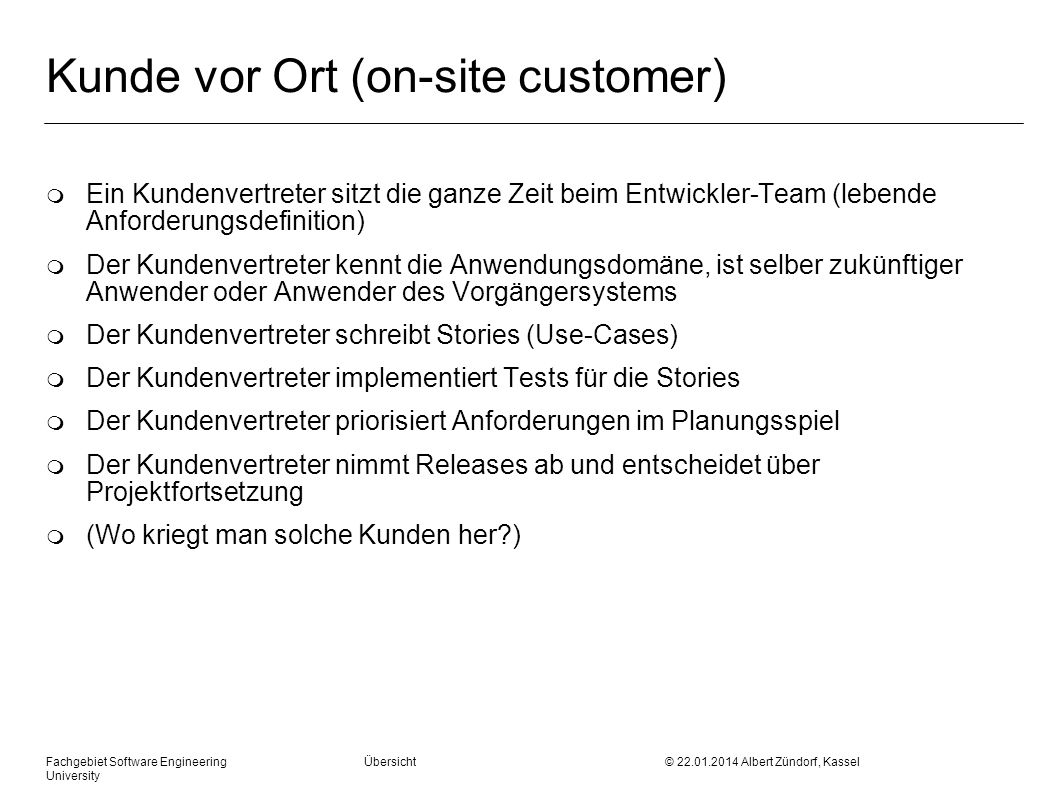 Kunde vor Ort (on-site customer)