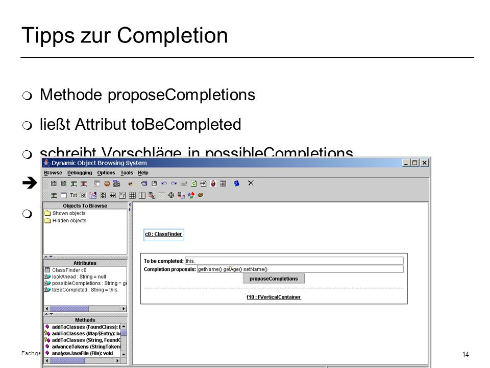 Tipps zur Completion Methode proposeCompletions