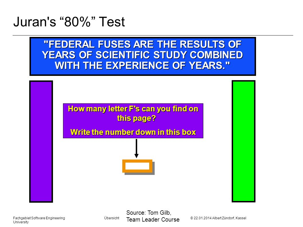Juran s 80% Test FEDERAL FUSES ARE THE RESULTS OF YEARS OF SCIENTIFIC STUDY COMBINED WITH THE EXPERIENCE OF YEARS.