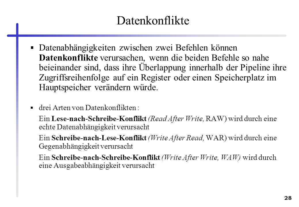Datenkonflikte
