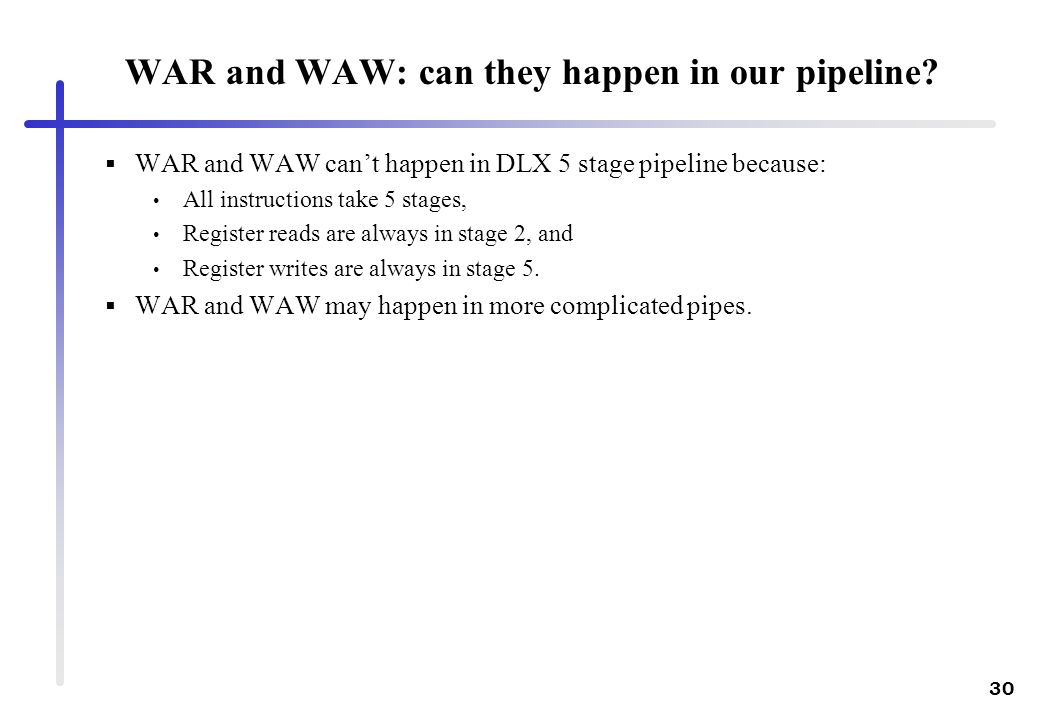 WAR and WAW: can they happen in our pipeline