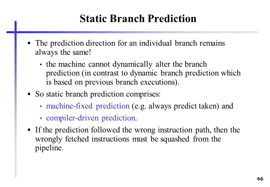 Static Branch Prediction