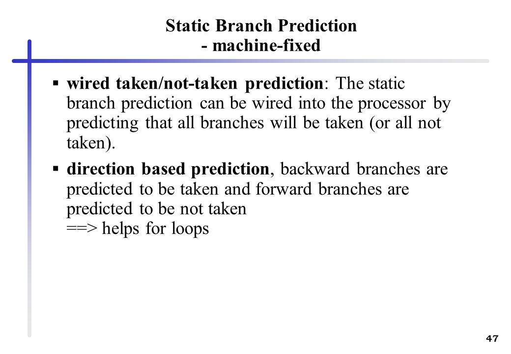 Static Branch Prediction - machine-fixed
