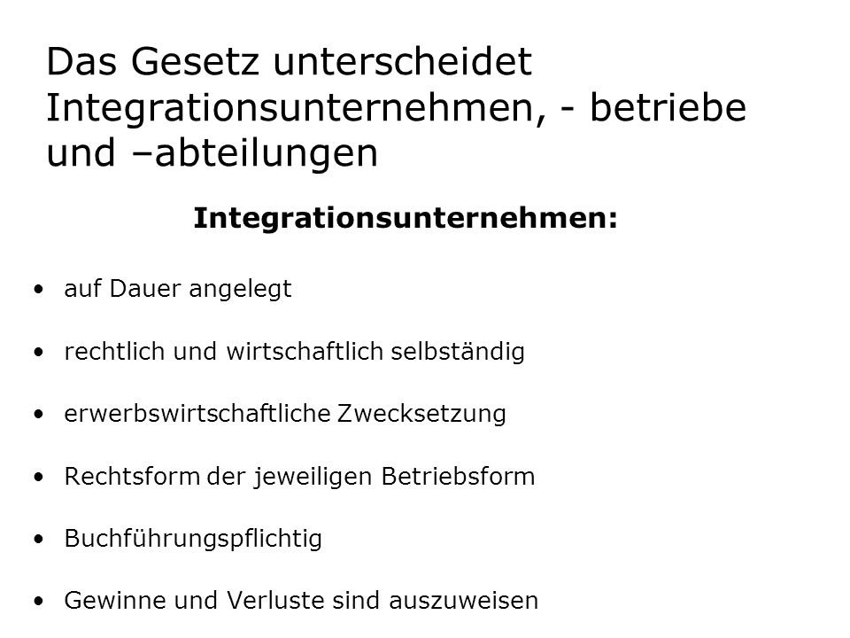 Integrationsunternehmen: