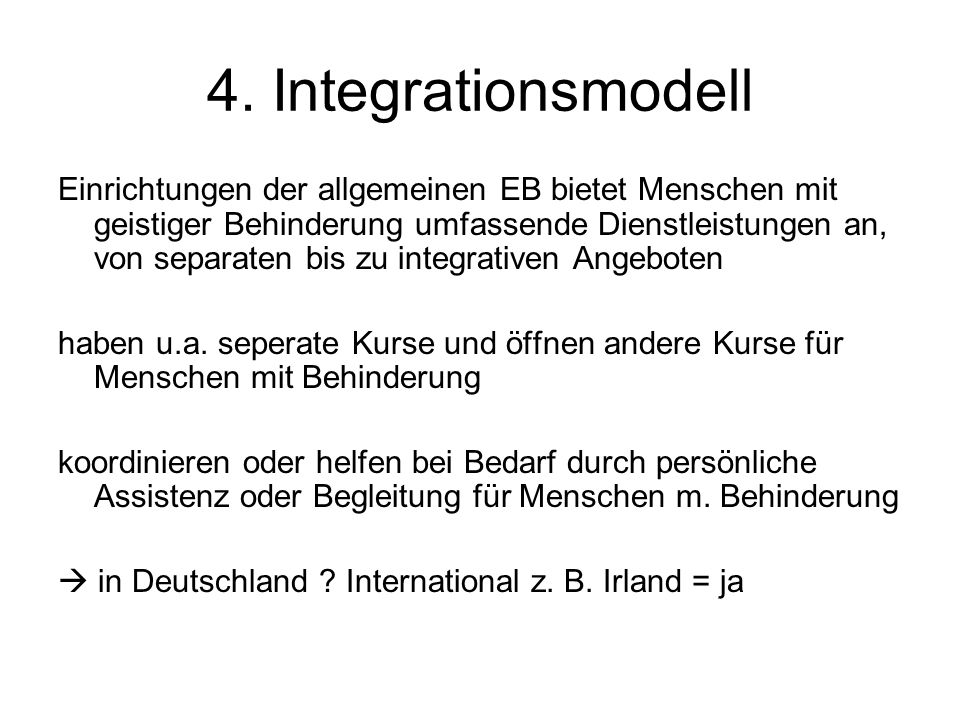 4. Integrationsmodell