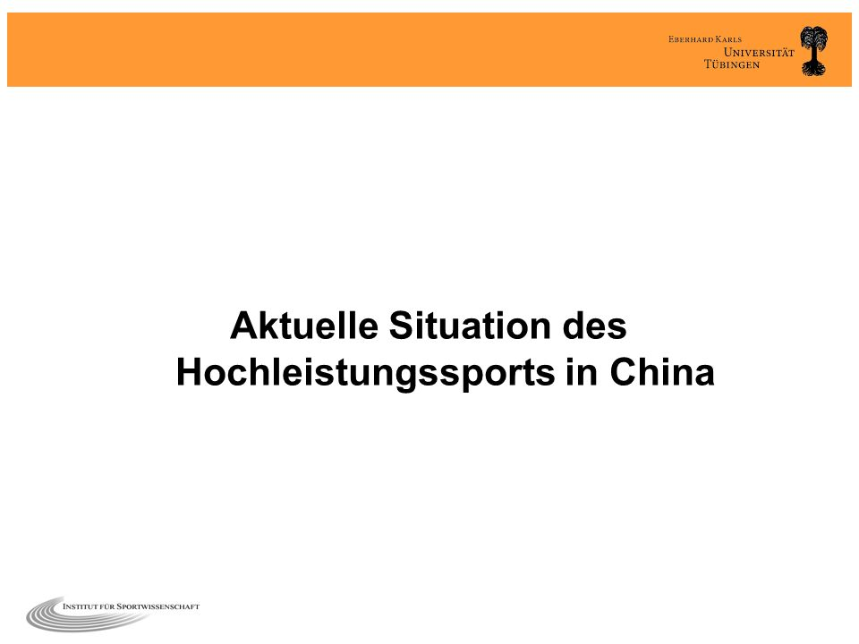 Aktuelle Situation des Hochleistungssports in China