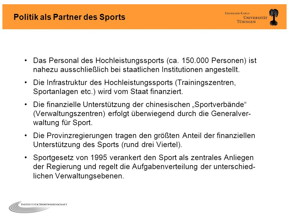 Politik als Partner des Sports
