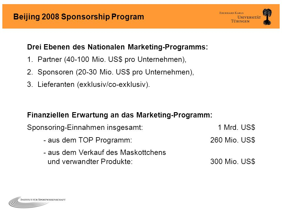 Beijing 2008 Sponsorship Program