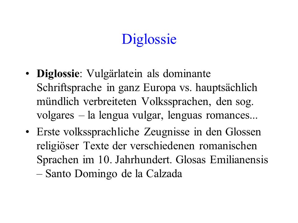 Diglossie