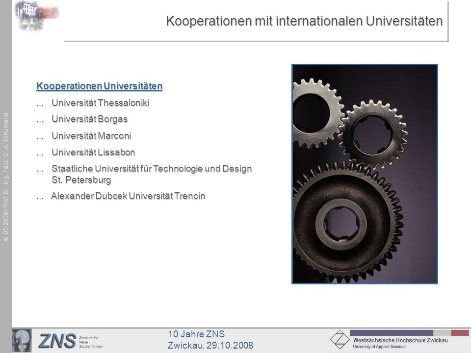 Kooperationen mit internationalen Universitäten