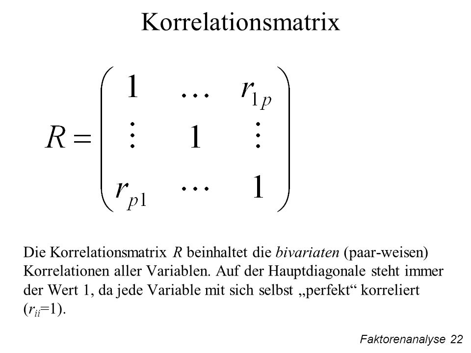 Korrelationsmatrix