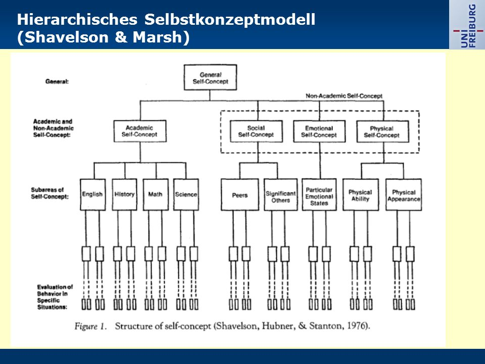 Hierarchisches Selbstkonzeptmodell (Shavelson & Marsh)