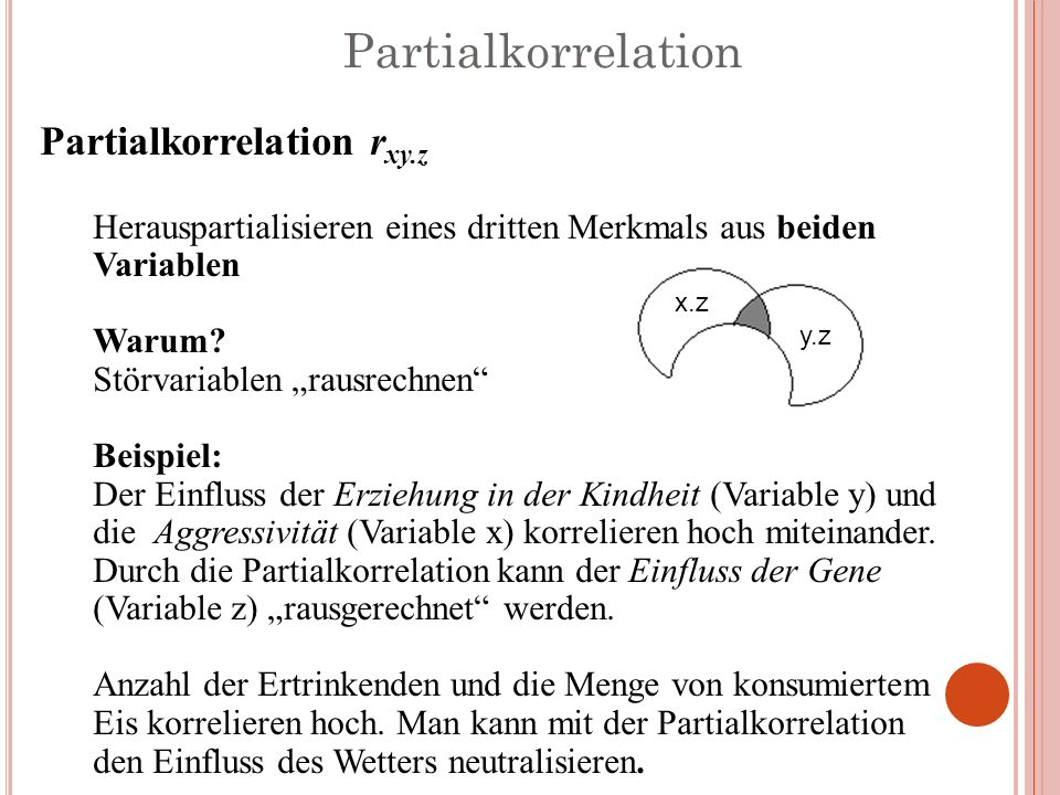 Partialkorrelation Partialkorrelation rxy.z