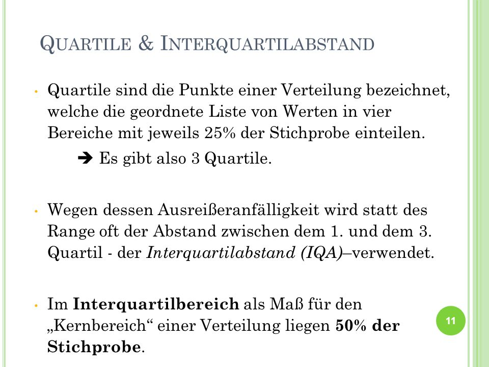Quartile & Interquartilabstand
