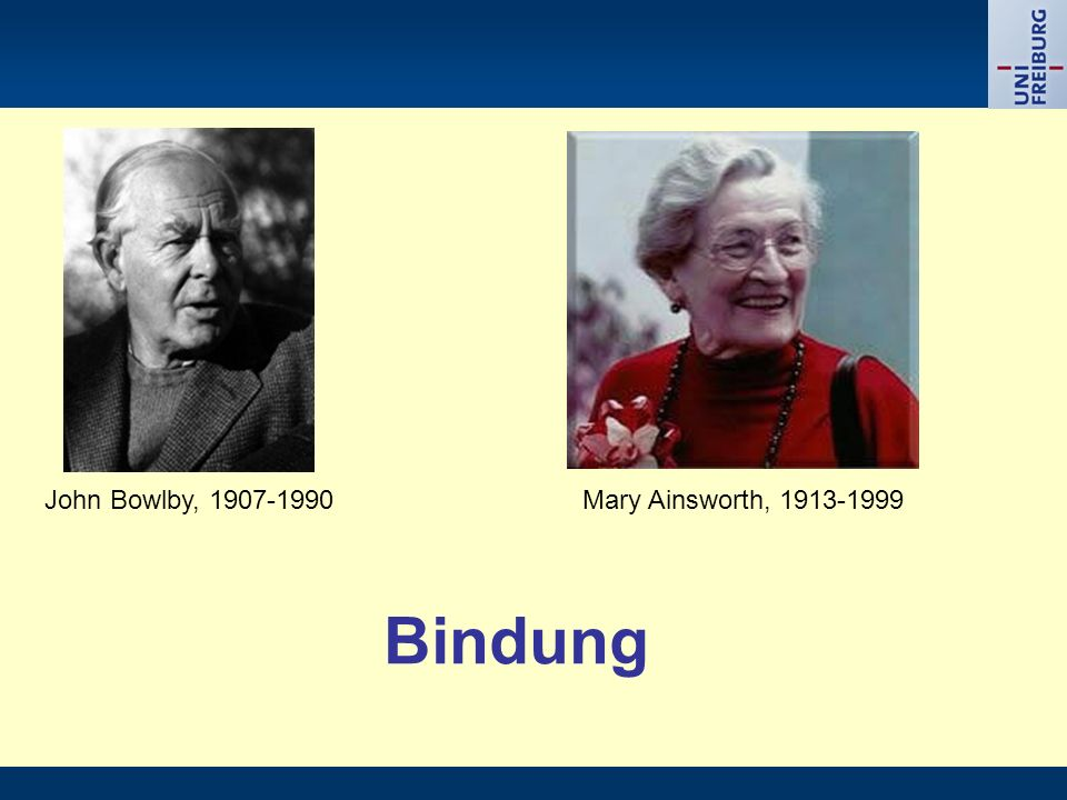 John Bowlby, Mary Ainsworth, Bindung