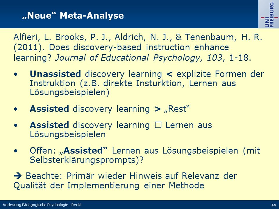 "• Assisted discovery learning > ""Rest"