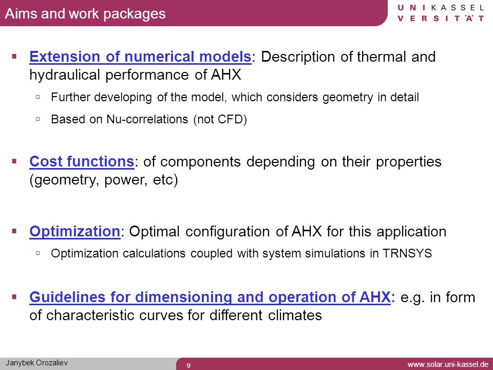 Optimization: Optimal configuration of AHX for this application