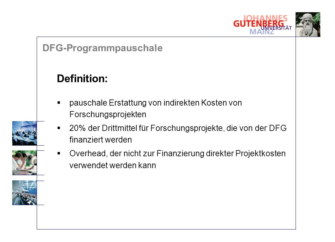 Definition: DFG-Programmpauschale