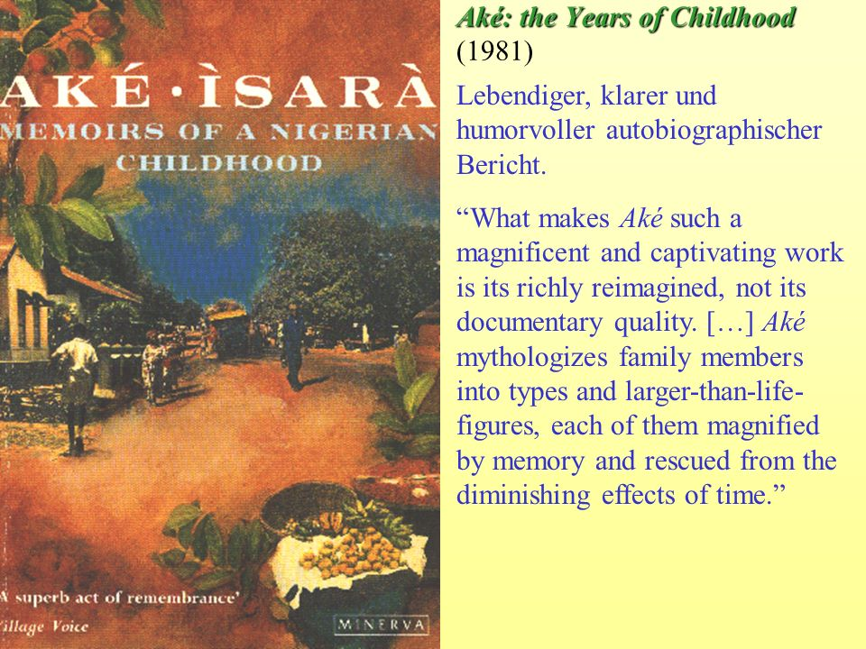 Aké: the Years of Childhood (1981)
