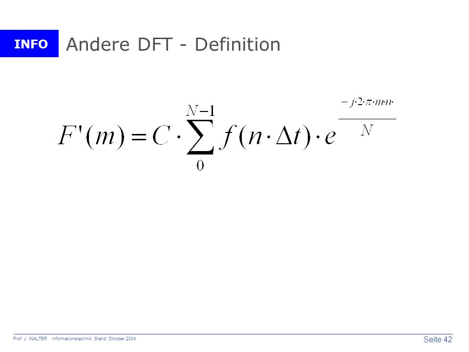 Andere DFT - Definition