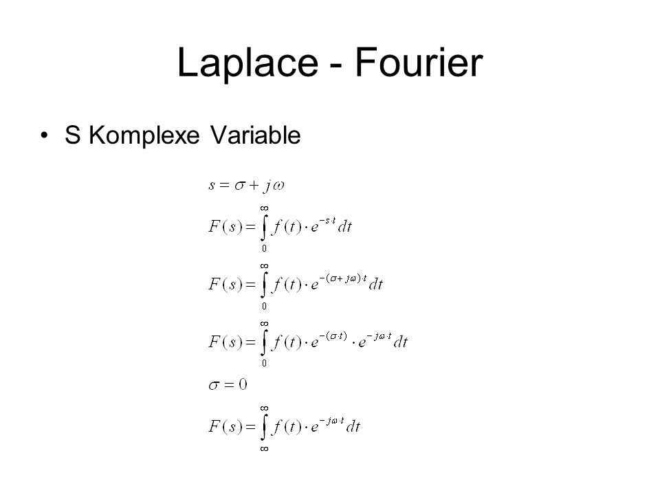 Laplace - Fourier S Komplexe Variable