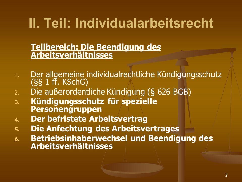 Ii Teil Individualarbeitsrecht Ppt Video Online Herunterladen