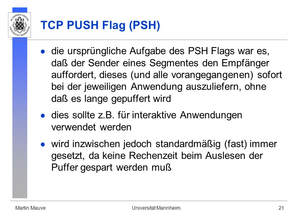 TCP PUSH Flag (PSH)