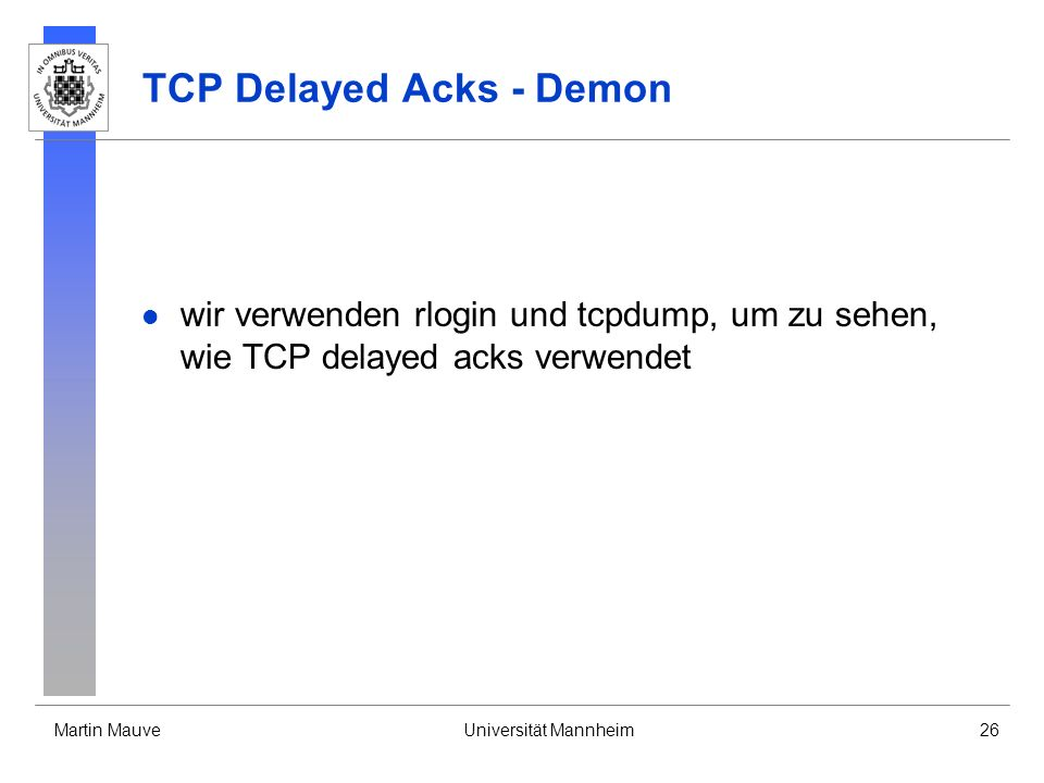 TCP Delayed Acks - Demon