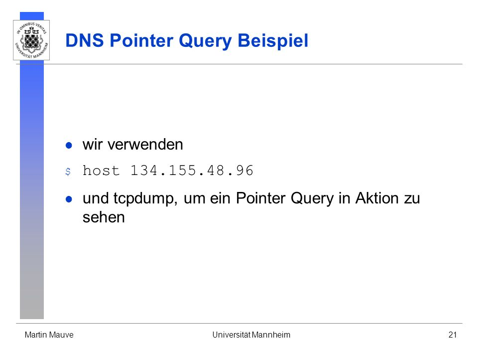 DNS Pointer Query Beispiel