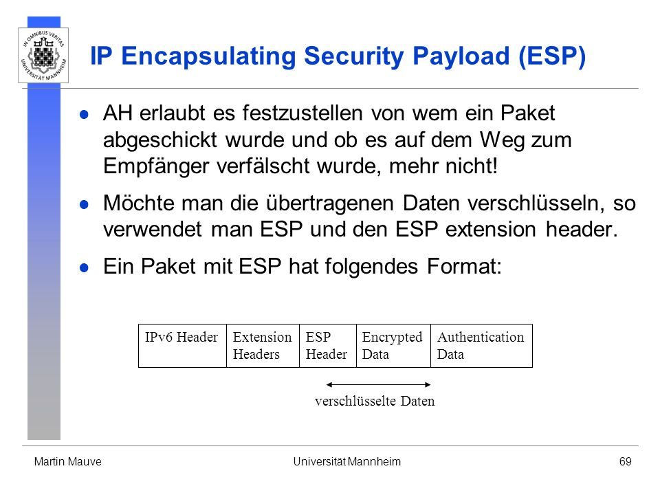 IP Encapsulating Security Payload (ESP)