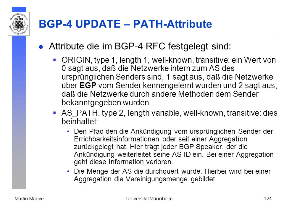 BGP-4 UPDATE – PATH-Attribute