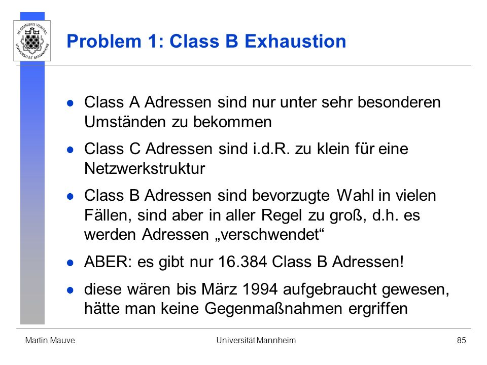 Problem 1: Class B Exhaustion