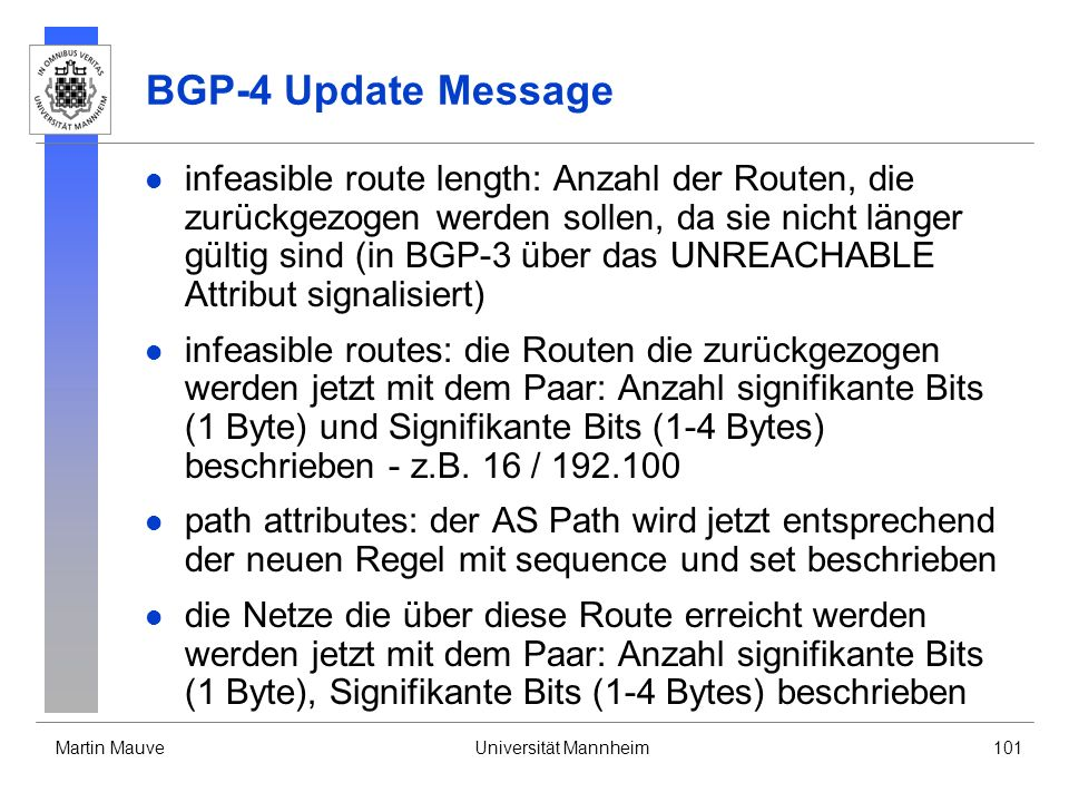 BGP-4 Update Message