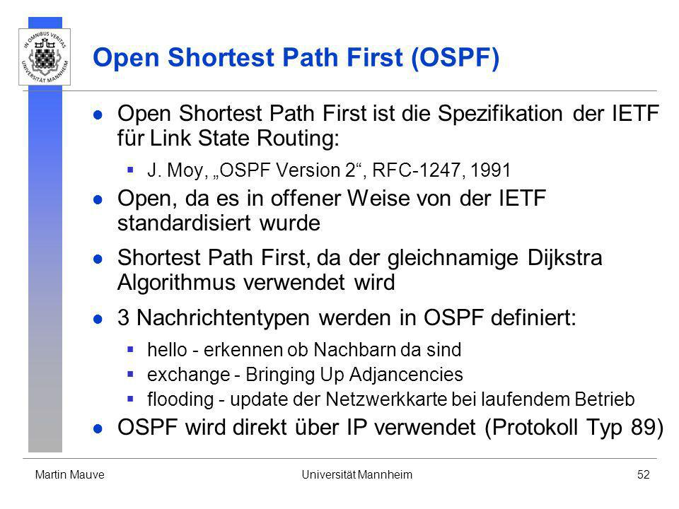 Open Shortest Path First (OSPF)