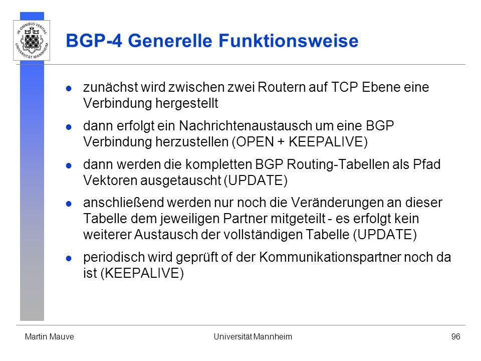 BGP-4 Generelle Funktionsweise