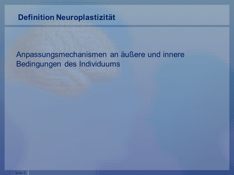 Definition Neuroplastizität