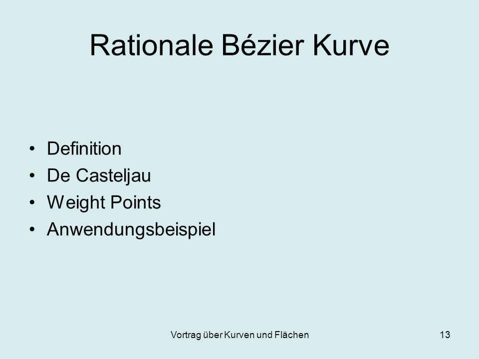 Rationale Bézier Kurve
