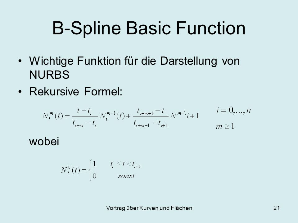 B-Spline Basic Function