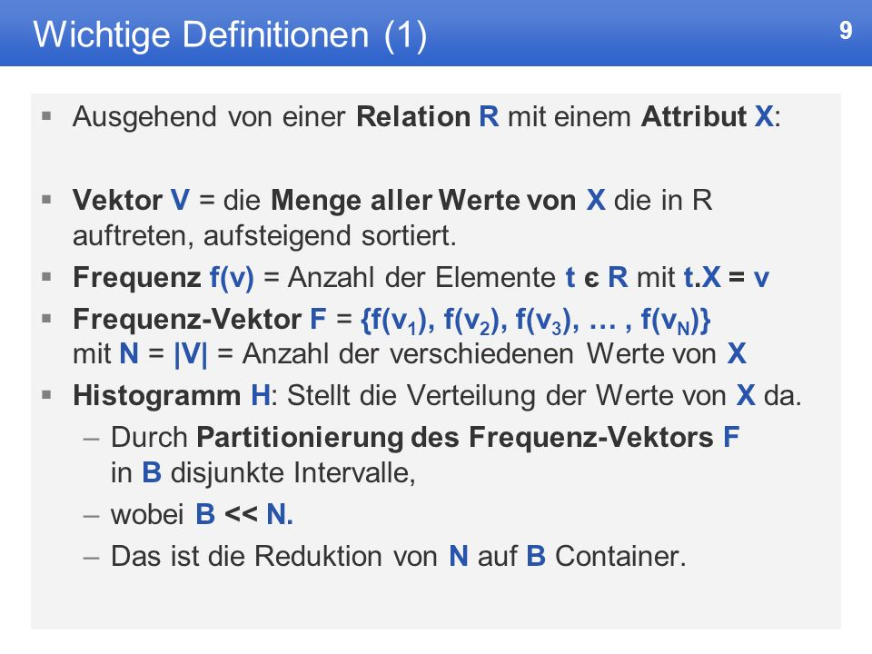 Wichtige Definitionen (1)