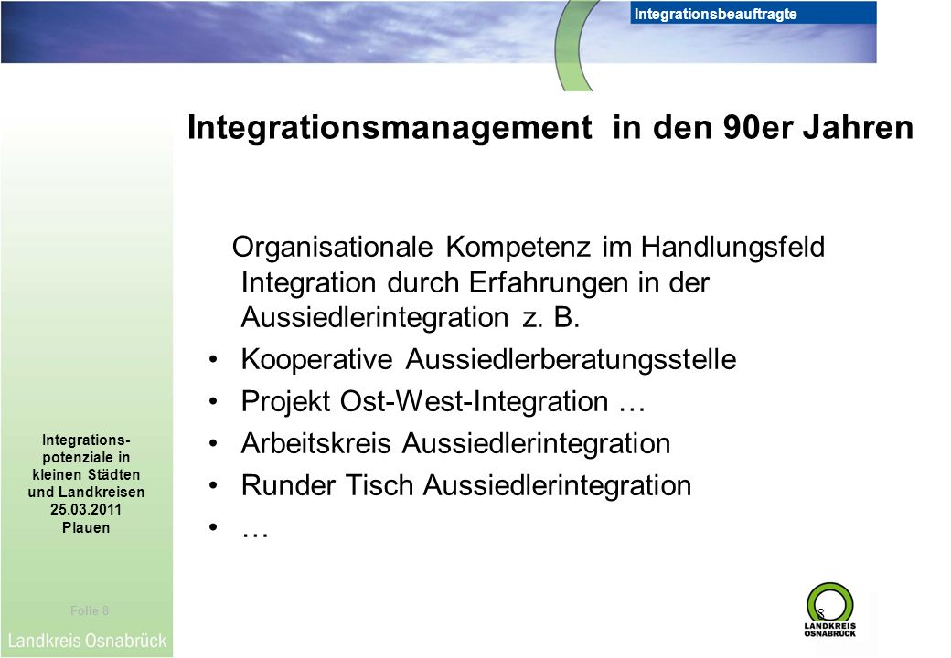 Integrationsmanagement in den 90er Jahren