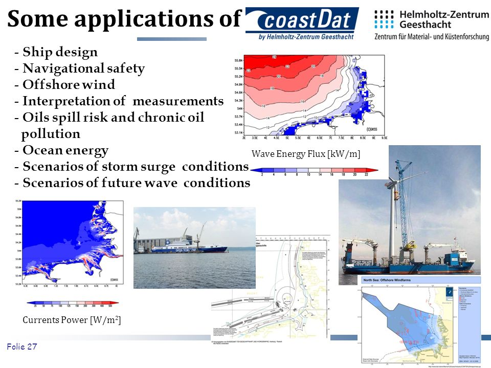Some applications of Ship design Navigational safety Offshore wind