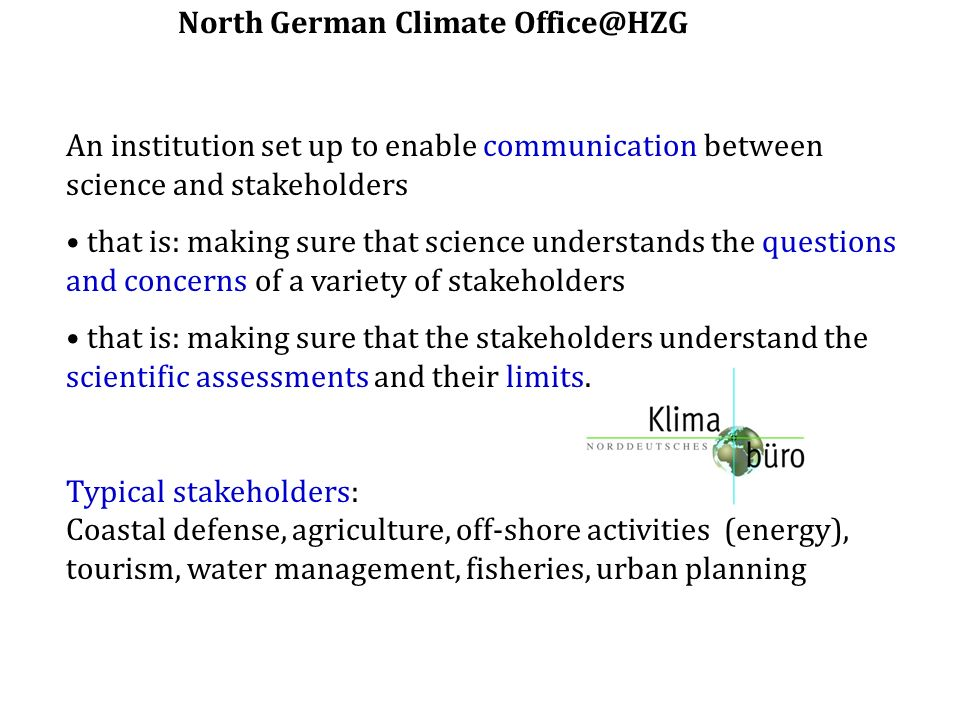 North German Climate Office@HZG