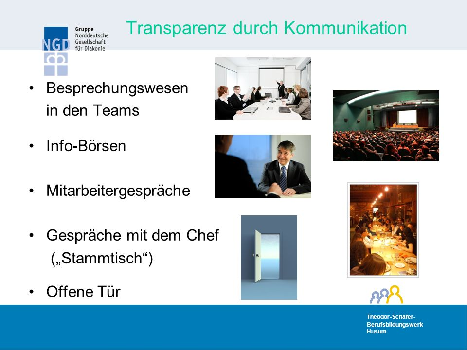 Transparenz durch Kommunikation