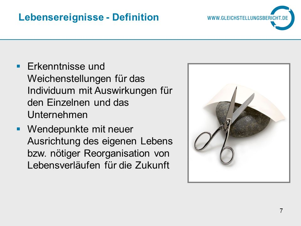 Lebensereignisse - Definition