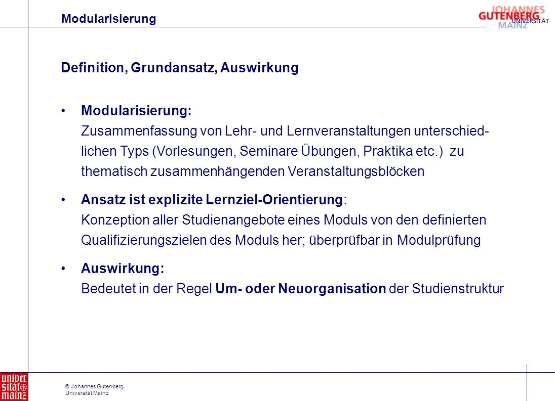 Definition, Grundansatz, Auswirkung