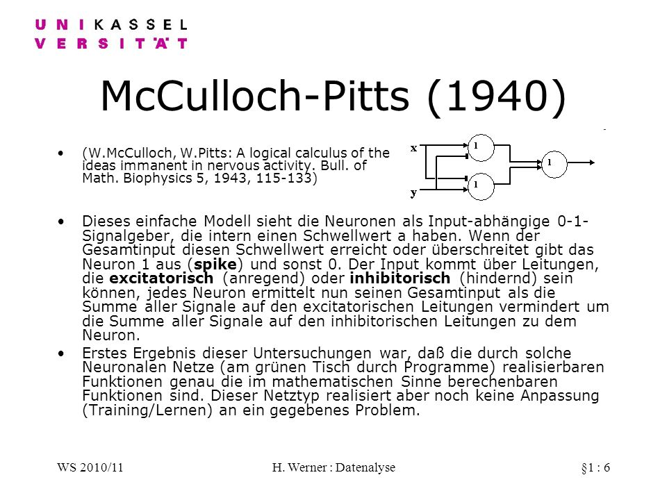 McCulloch-Pitts (1940)