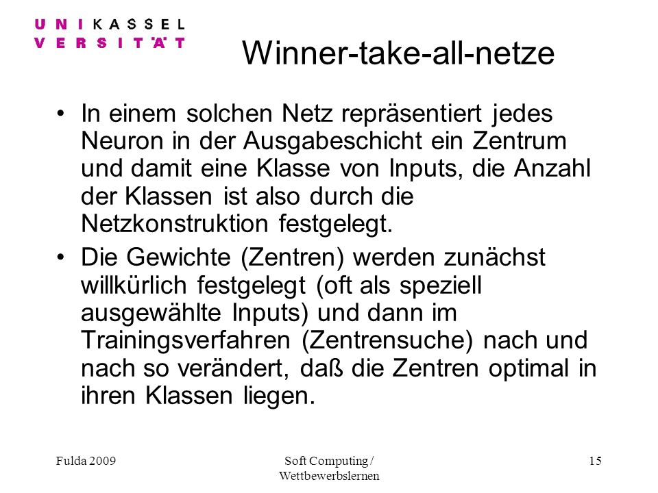 Winner-take-all-netze