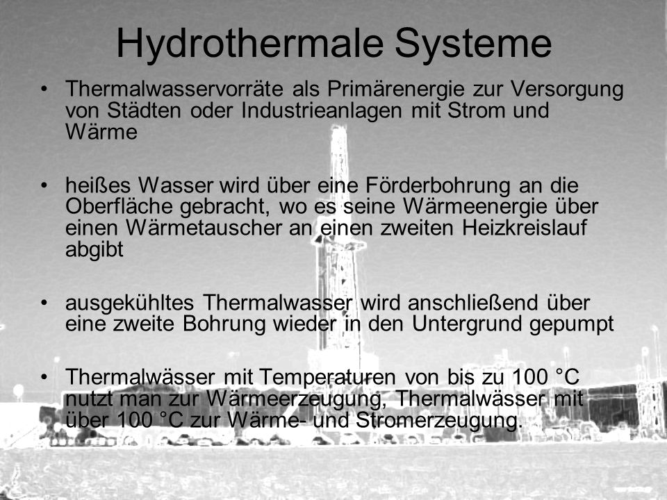 Hydrothermale Systeme