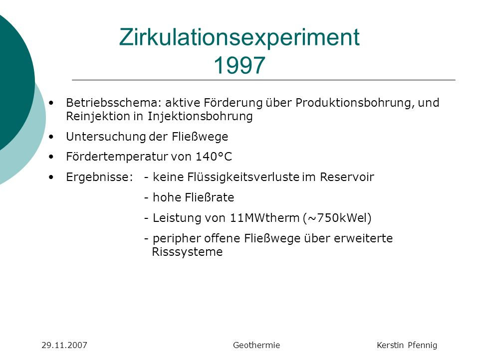 Zirkulationsexperiment 1997